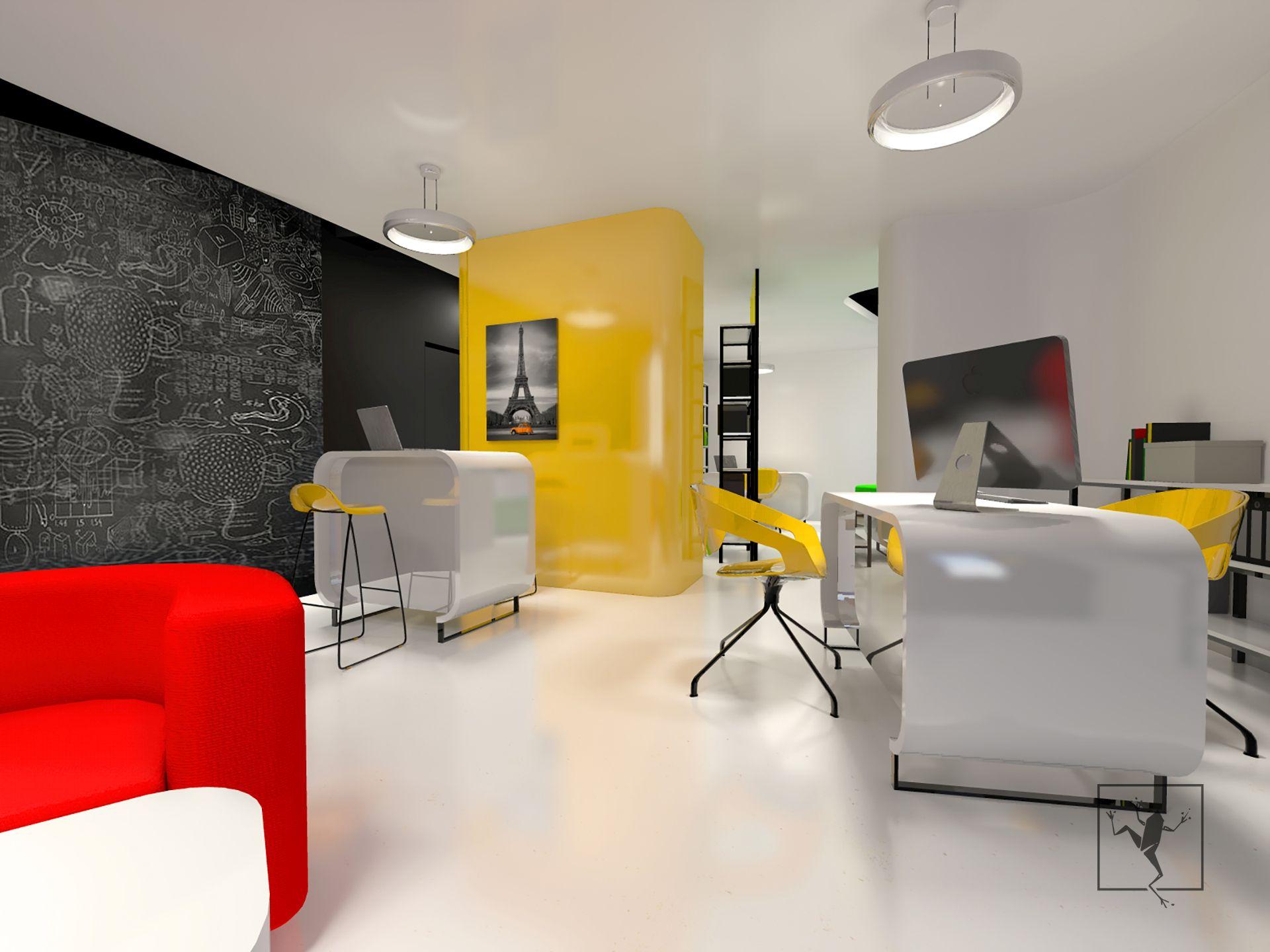 961ef00dc7 Projekt wnętrza biur nieruchomości Metrohouse w Gliwicach