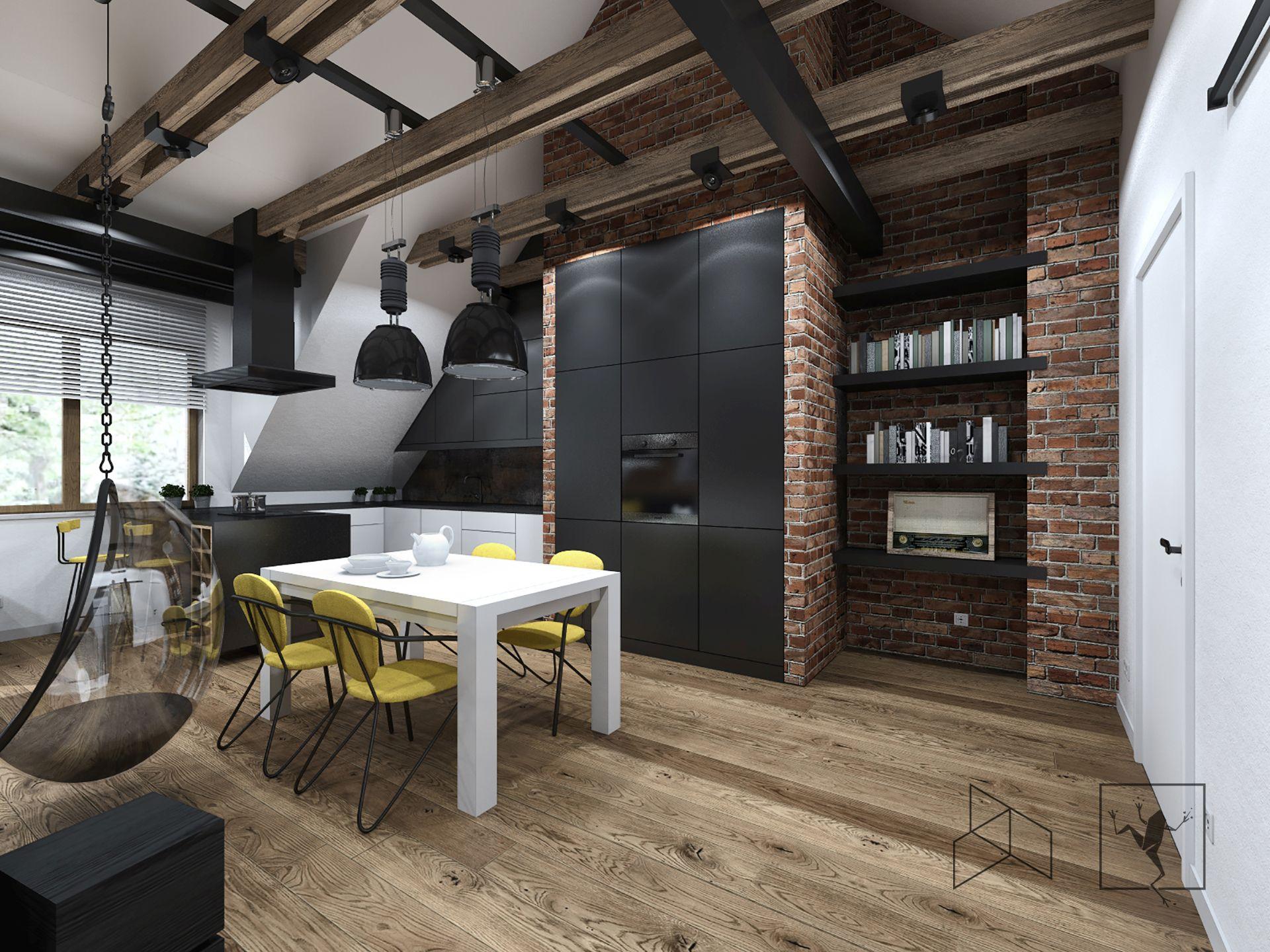 Projekt Wnętrza Poddasza Frog Studio Architekci Kielce