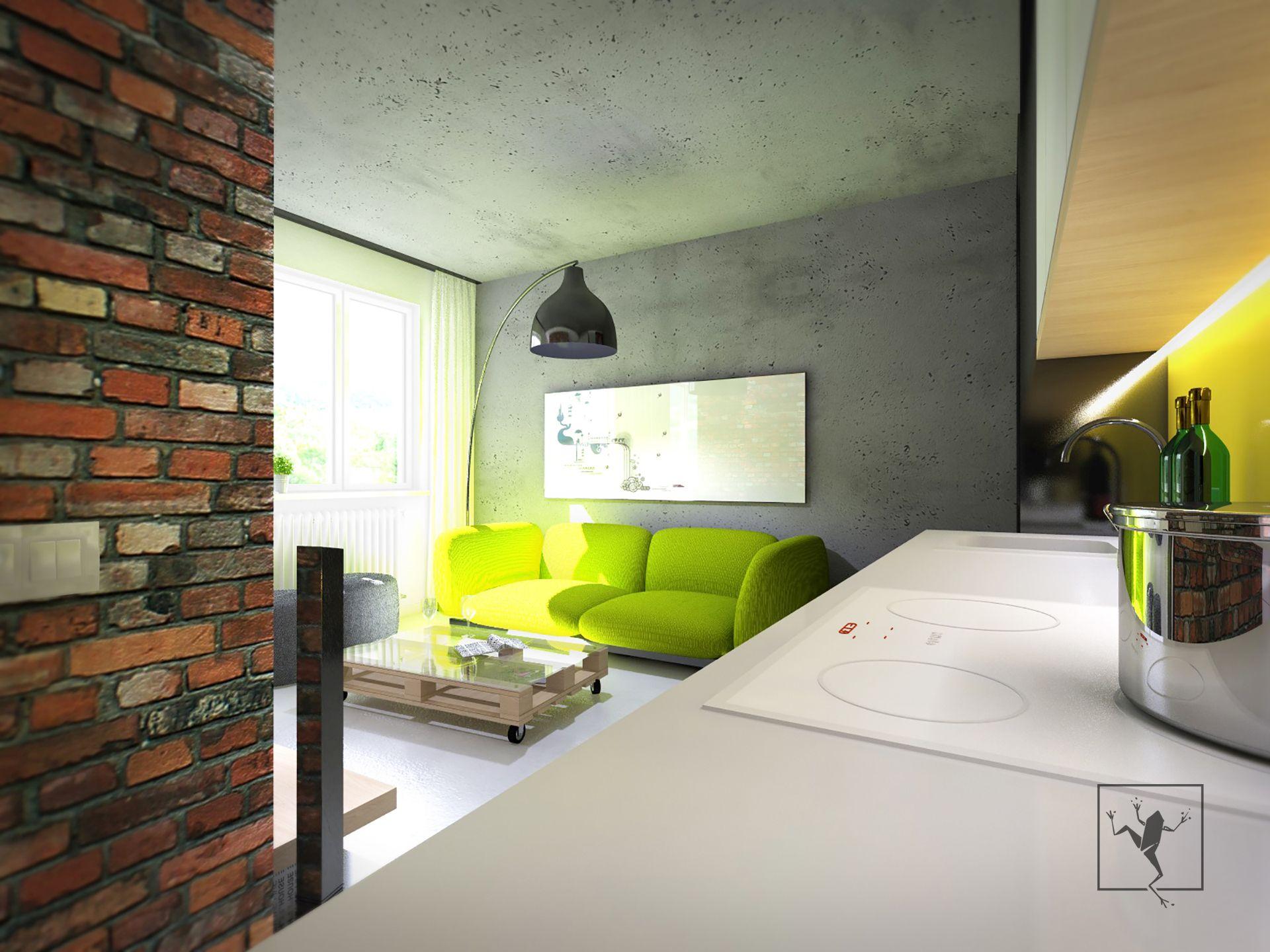 Projekt wn trza mieszkania zabrze modul 63 b frog studio for Frog studio