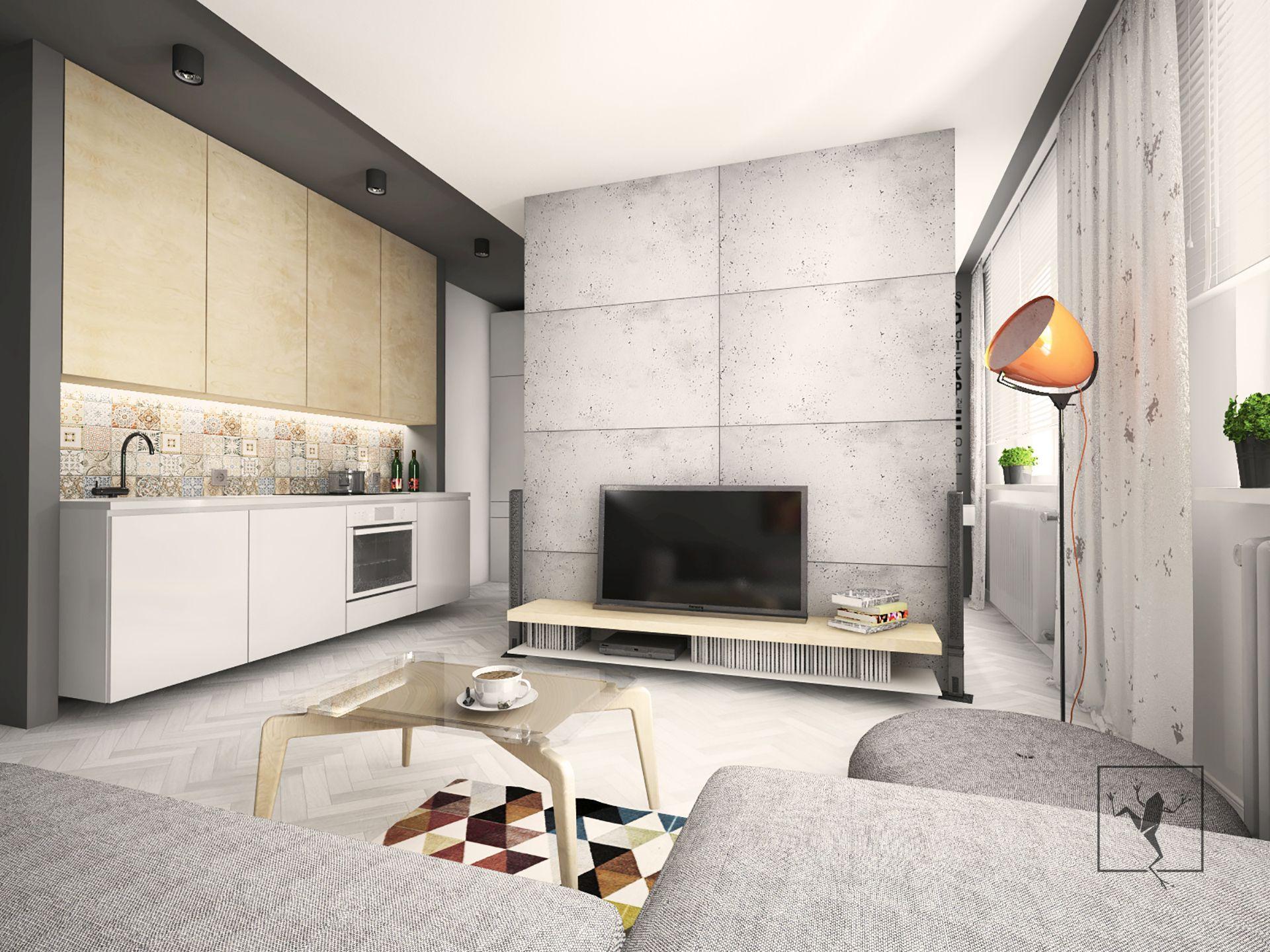 Projekt wn trza mieszkania zabrze modul 63 c frog studio for Frog studio