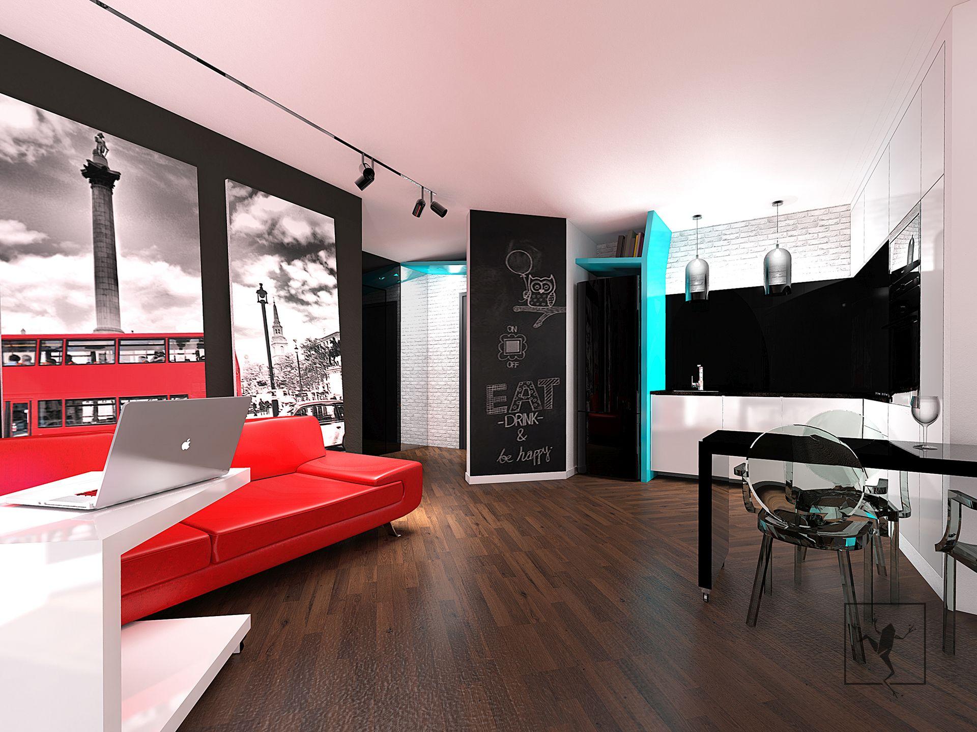Projekt wn trza mieszkania kielce w09 frog studio kielce for Frog studio